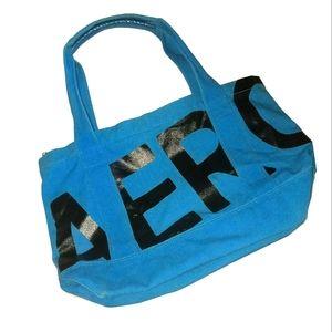 Aeropostale tote bag/overnight bag blue & black OS